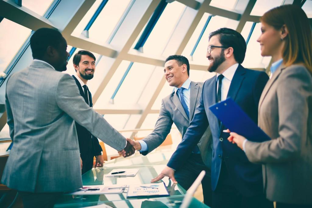 sealing a business deal