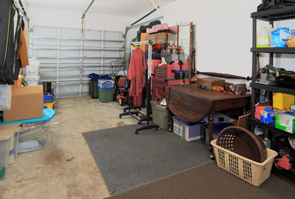garage full of old unused items