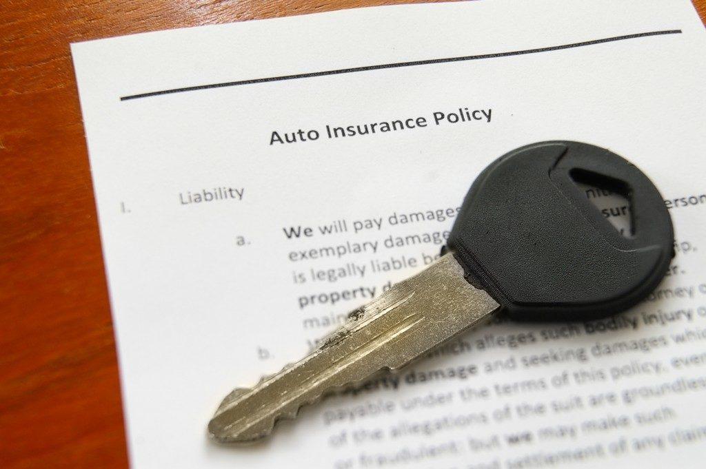 Auto insurance and car key