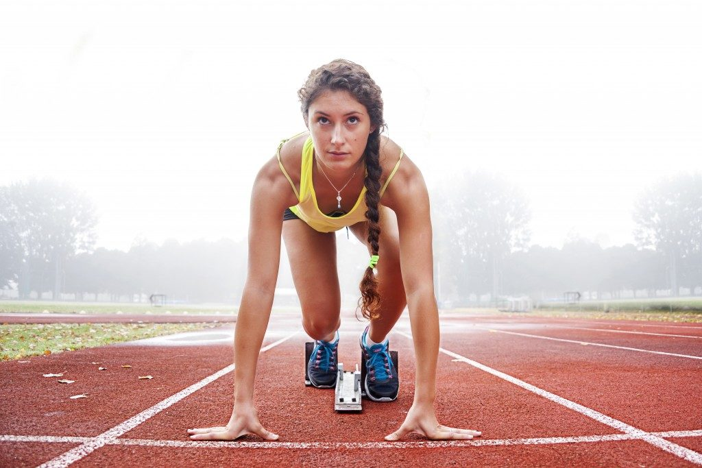 Athlete track and field