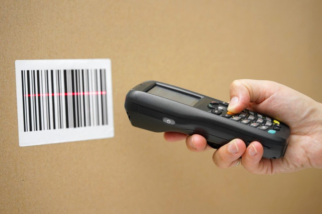 Scanning the barcode