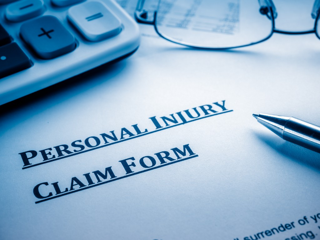Personal injury form about to be signed