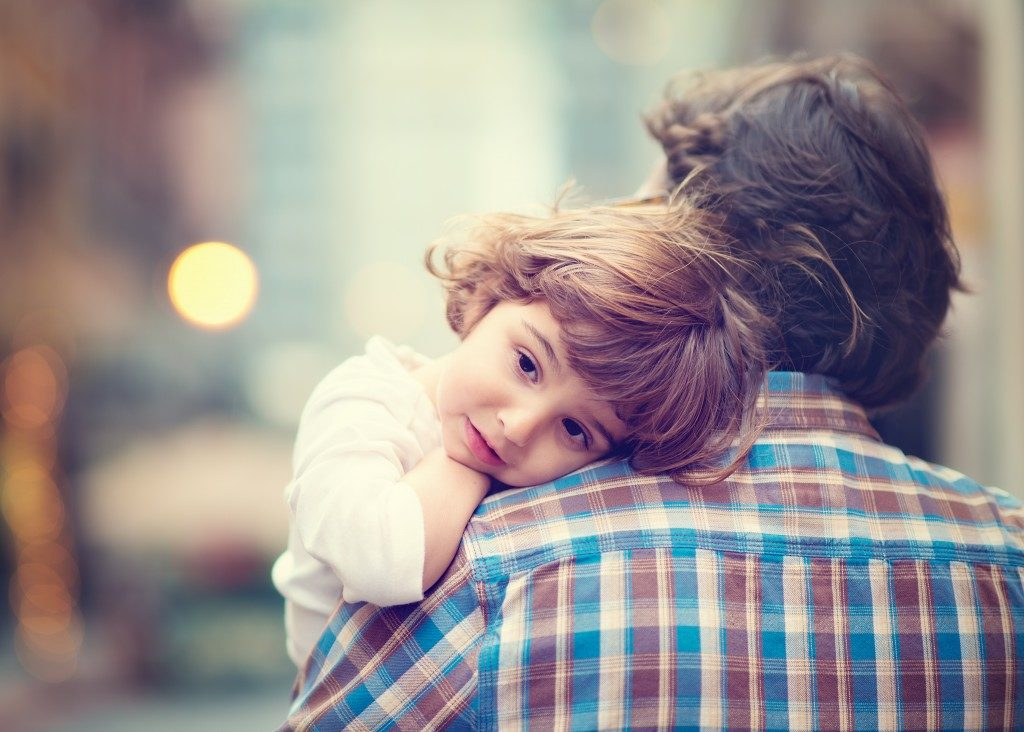 little girl with dad