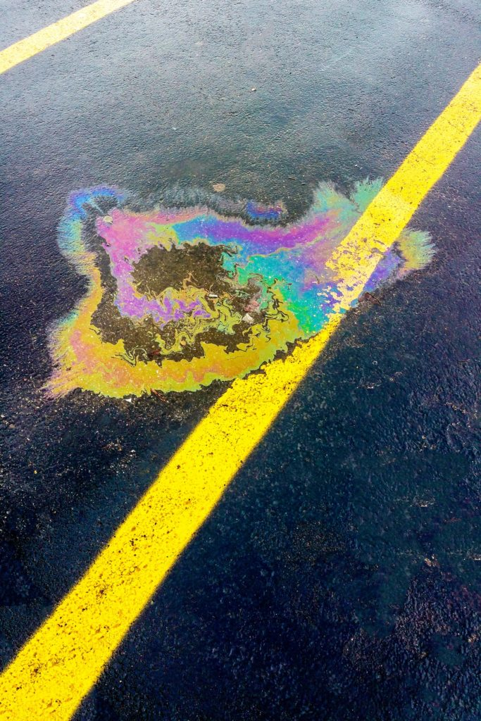 oil on the road