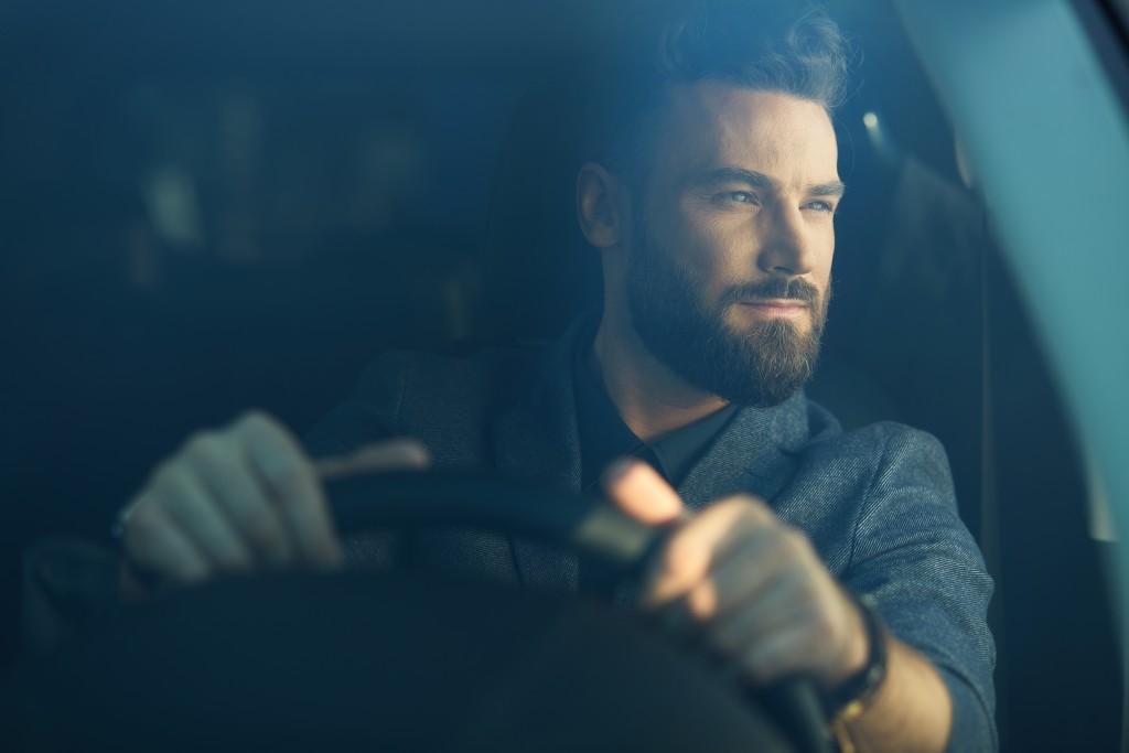 Man behind the wheel