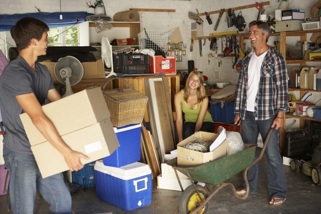 preparing for a garage sale