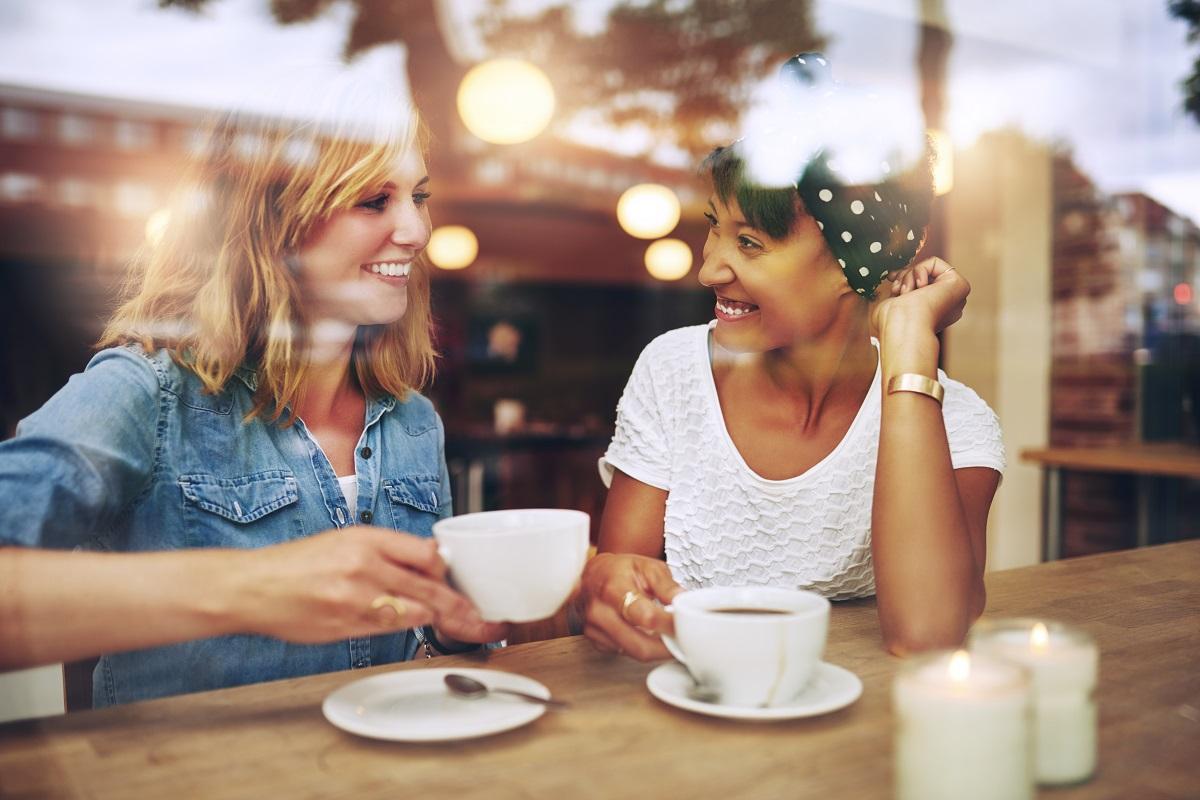 ladies drinking coffee