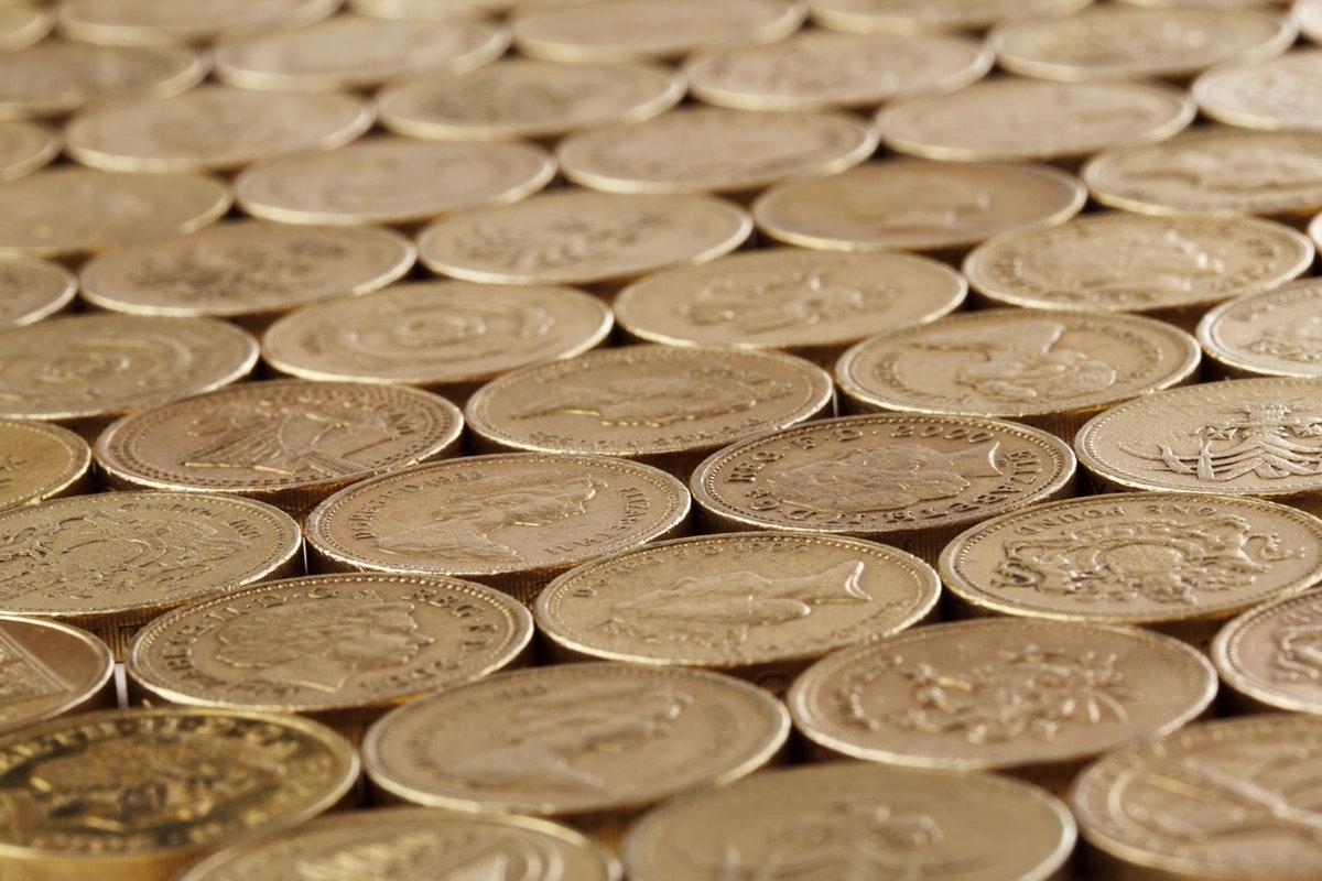 coins arranged